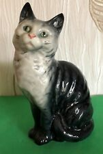 BESWICK  CAT SEATED HEAD LOOKS UP MODEL No 1030 GREY GLOSS GREAT CONDITION