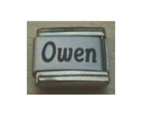 9mm Classic Size Italian Charm  Names Name Owen