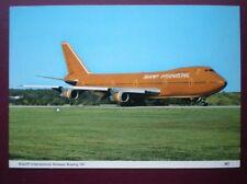 POSTCARD AIR BRANIFF INTERNATIONAL AIRWAYS BOEING 747 JET