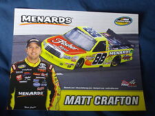 2012 MATT CRAFTON #88 FISHER NUTS NASCAR POSTCARD