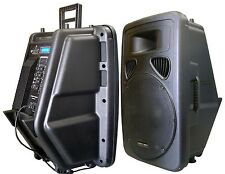 """New 15"""" 400W Professional PA,DJ Powered Speaker USB/SD,Mic.RCA Input LCD Screen"""