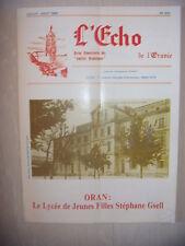 Algérie, Oran: Revue L'Echo de l'Oranie, N° 203: 07-08/1989, BE