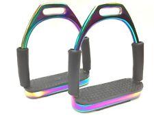 Flexi Stirrups Multi-colour Rainbow Titanium