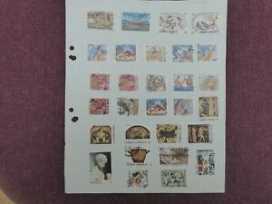5 pages of Greece stamps