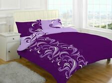 Printed Duvet Quilt Cover Set With Pillowcases Single Double Super King Size New