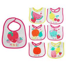 Lot de 7 bavoirs naissance NEUF bavettes repas de bébé fille fruits fraise