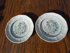 "Pair of Adams Calyx Ware 7621 The Piper 6"" Plates 1896-1914"