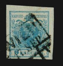 Österreich 1850  9 Kr. Type II  Unterlegte Mitte