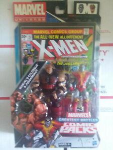 "Marvel Universe 3.75"" Greatest Battles Comic Pack Colossus & Juggernaut  NISB"