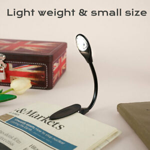 Travel Light- LED Clip On Book Light Reading Lamp Flexible Portable Desk Night.