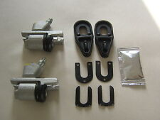 ONE PAIR OF RELIANT RIALTO & ROBIN REAR WHEEL BRAKE CYLINDERS, & FITTING KIT