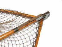Ogden Smith London the Foldex wood frame landing net with folding bamboo handle,
