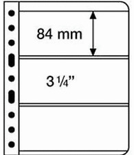 'Lighthouse Vario Stamp Storage Pages-3S-3 to a-Sheet-Black Back-2 sided