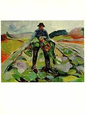 "1970 Vintage MUNCH ""MAN IN A CABBAGE FIELD"" COLOR offset Lithograph"