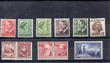 Australie 1950/1 SG 235 To 237 + 237 C à 237d - 238 - 239 A - 241 A - 243 m/m