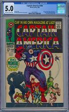 CAPTAIN AMERICA #100 - CGC 5.0  OW-WP  VG/FN 1st Issue 1968