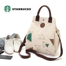 Bnew Starbucks collectible art multi-functional Bing Shang canvas shoulder bag