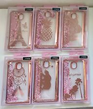 For Samsung Galaxy J7 2018/Refine/Star/J7 V/Crown Pink Liquid Phone Case Cover