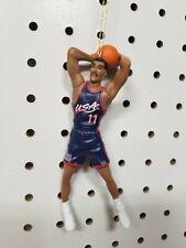 Karl Malone Dream Team USA Olympic Basketball Christmas Ornament Blue Jersey