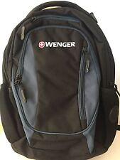 Wenger Black and Blue Three Pocket Backpack NWOT