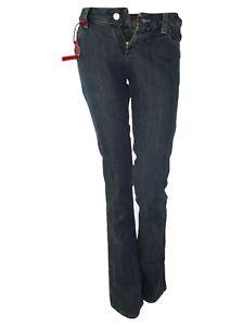 miss sixty jeans donna blu denim bootcut extra lowty taglia it 39 w 25