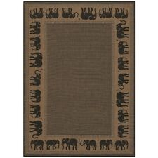 Couristan Recife Elephant Cocoa & Black In/Out Rug