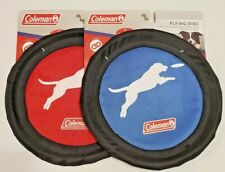 Lot of 2 Coleman Floating Flexible Flying Disc For Dogs 10""