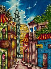 """CUBAN ART #129 ** TORANGO ** LA BODEGUITA DEL MEDIO 24X18"""" SIGNED ON CANVAS"""
