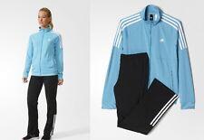 new ADIDAS womens FRIEDA TRACKSUIT sz M black blue jacket + pants track suit set