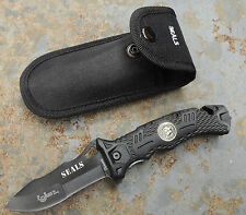 Albainox Seals Messer Rettungsmesser Gurtschneider Glasbrecher + Etui 19900A