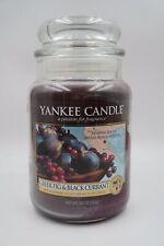 Yankee Candle GREEK FIG & BLACK CURRANT Large 22 oz Retired Rare