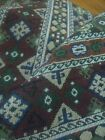 Vintage Woven Fabric 1.5 yard X 1 yard, Dark red and blue. Shapes