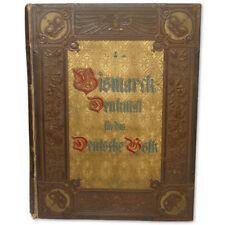 Otto von Bismarck Monumental German Luxury Book 1895 - 8.8 lbs Germany 300+ b&w