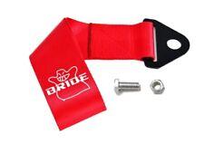 Universal JDM Red BRIDE Racing Drift Rally Car Towing Strap Belt Hook