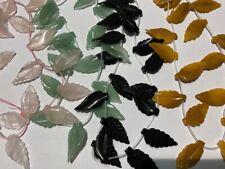 18 pcs Hand Carved Natural Gemstones Leaf Beads 35x16mm