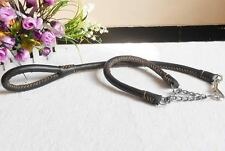 Hand made genuine Leather Dog Leash and Collar combo L and Unisex