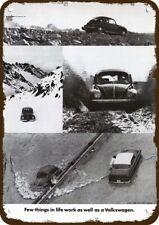 1974 VOLKSWAGEN BEETLE Car Vintage Look Replica Metal Sign - VW BUG THE IN MUD