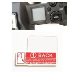 Glass Info Top Shoulder Screen Protector Cover for Canon EOS R R5 EOSR Camera