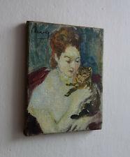 Unique Rare original oil, Portrait painting signed Pierre Auguste Renoir w COA