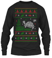 Comfy Turtle Ugly Christmas Sweater - Gildan Long Gildan Long Sleeve Tee T-Shirt