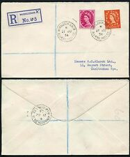 WIMBLEDON LAWN TENNIS 1954 MOBILE POST OFFICE CANCEL REGISTERED X..ALCOCK 8 1/2d