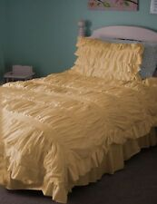 Decorative Step Gathered Duvet Cover Set 1000TC Egyptian Cotton All Sizes Colors