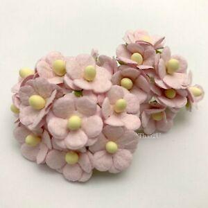 "1/2""-1.5cm SOFT Pink Cottage Paper flower Wedding Card Scrapbook Craft (2S-S10)"