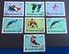Briefmarken Europa Yemen 1968 Olympiade Games Winter Sport Ski Lot Auslese