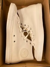 Converse Chuck Taylor White Leather High Top Mens Size 11.5