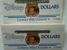 More details for 2 consecutive 1993 disney dollars mickey 1$ 65th da& w serialized envelopes new