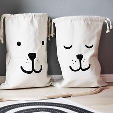 Large Canvas Home Storage Laundry Bag Washing Basket Bin Kids Toys Storage Bag
