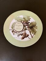 "Set of 4 Pottery Barn VINO Cocktail Appetizer Plates 7"" Charcuterie Beaune Paris"