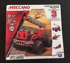 Meccano Maker System Rescue Squad 3 Model Set # 15202 87 Pieces New Sealed