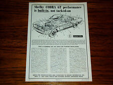 1968 FORD MUSTANG SHELBY GT 500/350 ORIGINAL AD -COBRA/289/302/427/428/v8 engine